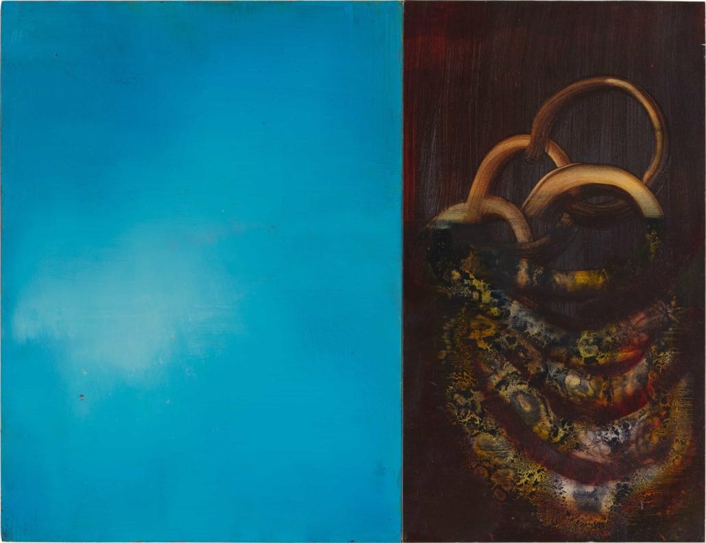 Nr.1 | 52 x 40 cm | z.t. |olieverf | 2 panelen | 2016
