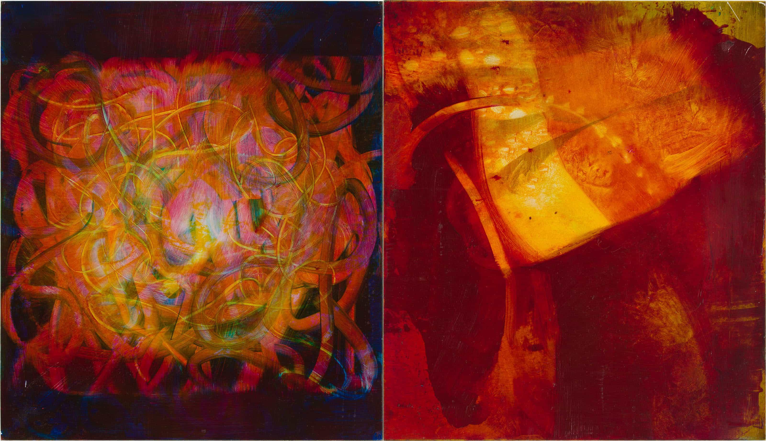 Nr.2 | 67 x 39 cm | z.t. |olieverf | 2 panelen | 2016