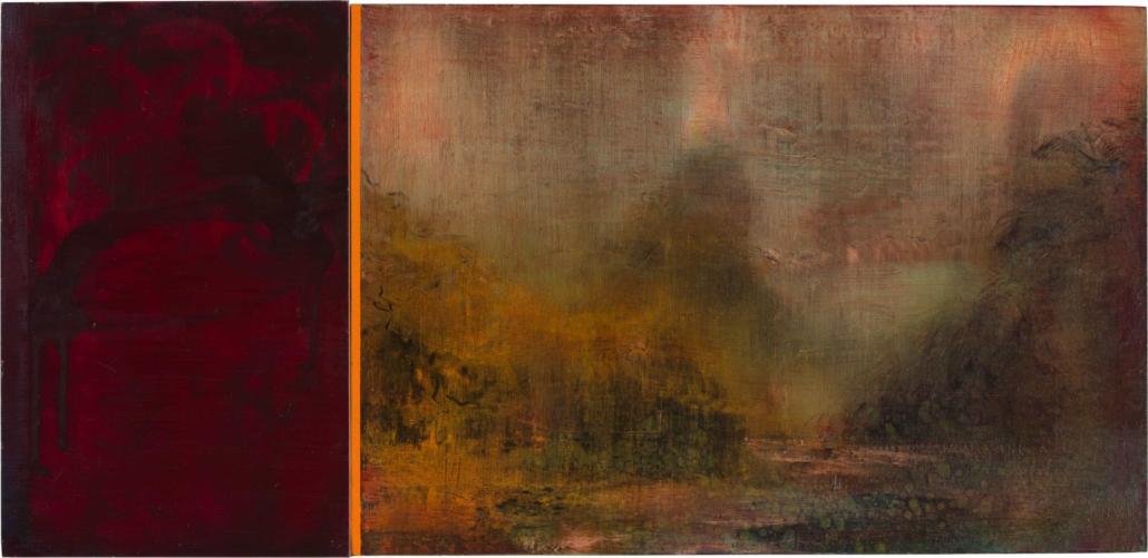 Nr.10 | 83 x 40 cm | z.t. |olieverf | 2 panelen | 2016
