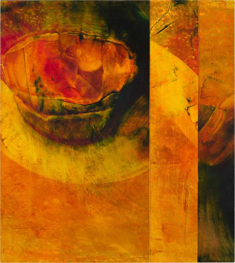 Nr.11 | 63 x 70 cm | z.t. |olieverf | 3 panelen | 2016
