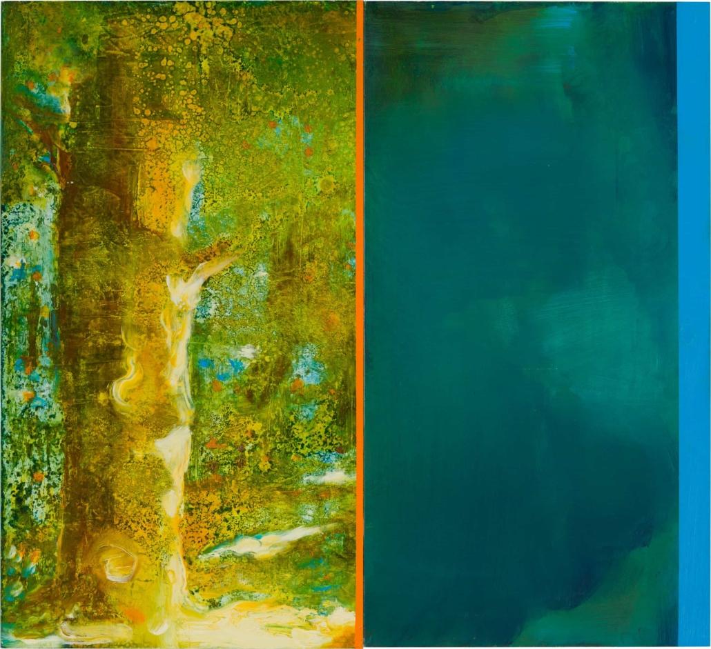 Nr.13 | 51 x 47 cm | z.t. |olieverf | 2 panelen | 2017